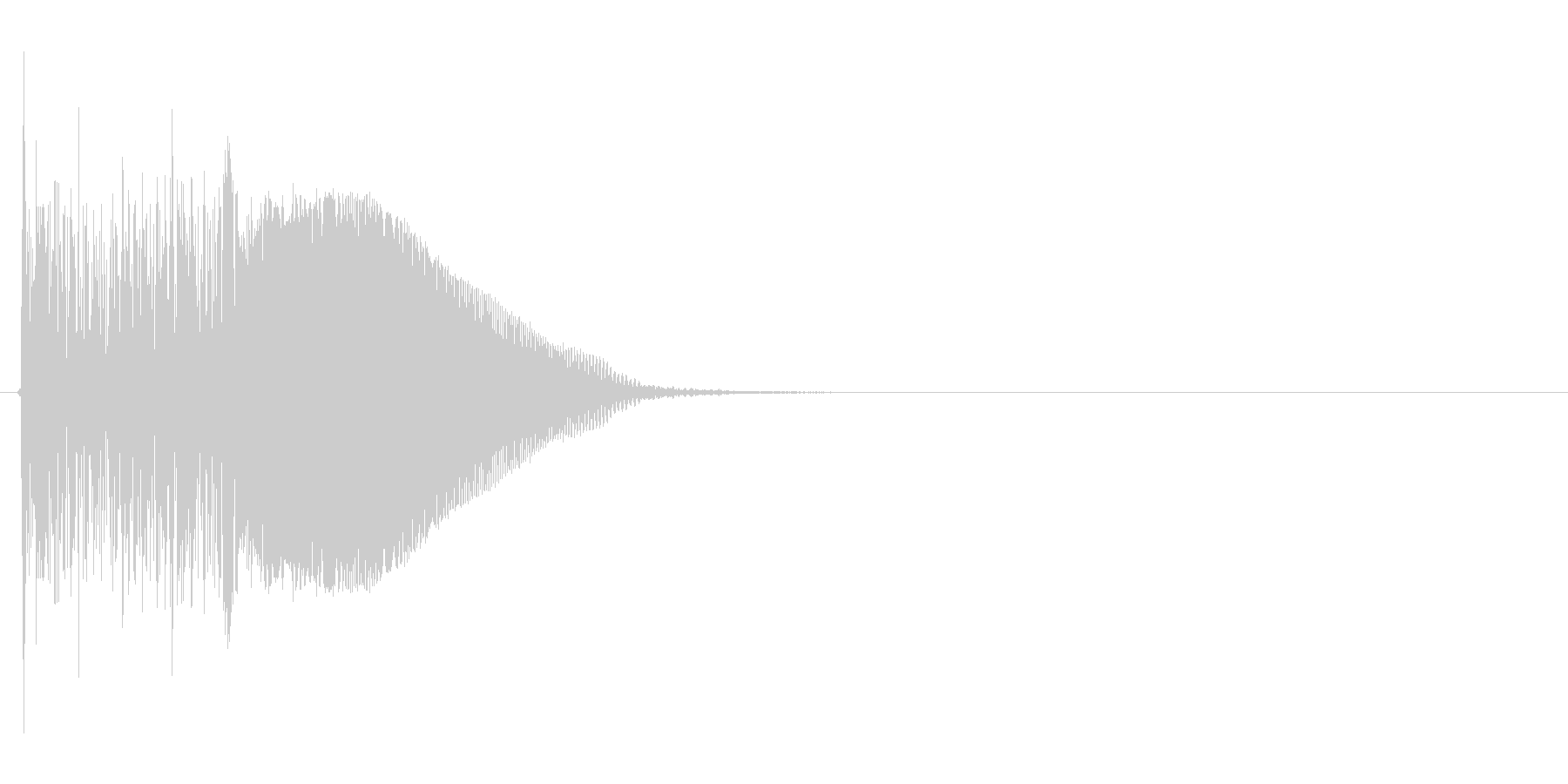 ビーム系ライフルSE(バキューン、SF)の未再生の波形