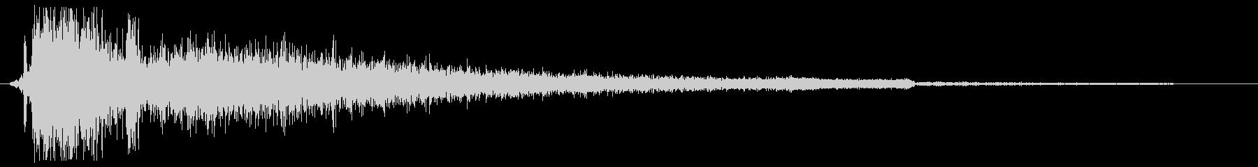 ガシーン(接触の音)の未再生の波形