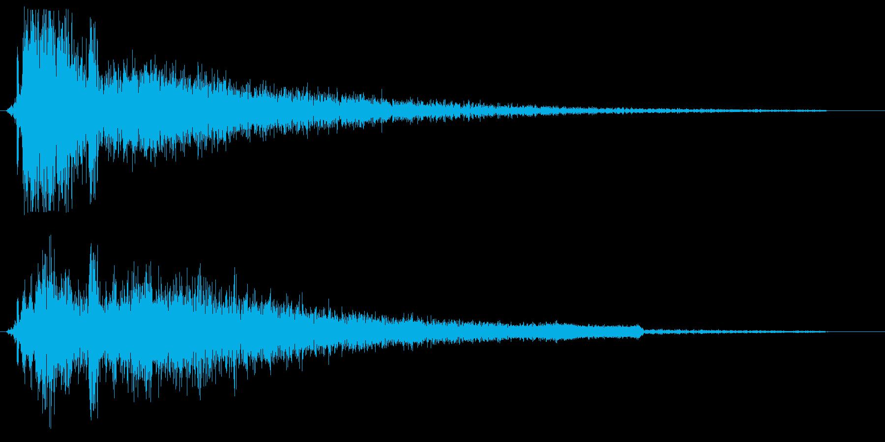 ガシーン(接触の音)の再生済みの波形