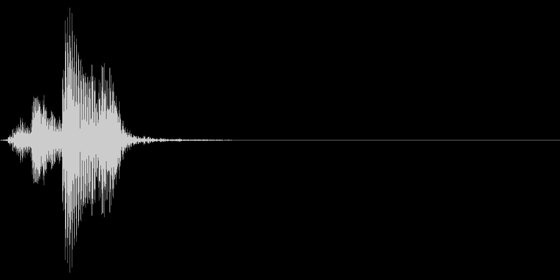 ゲーム掛け声男1ハッ3の未再生の波形