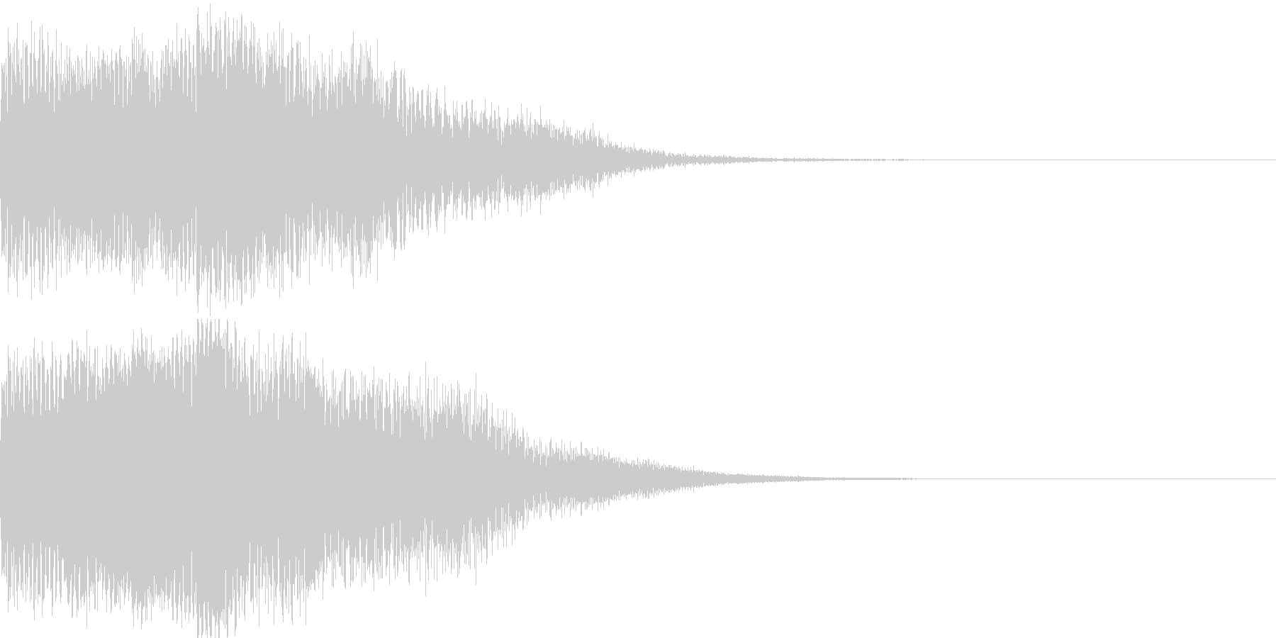 タラララーン(温和な電子効果音)の未再生の波形