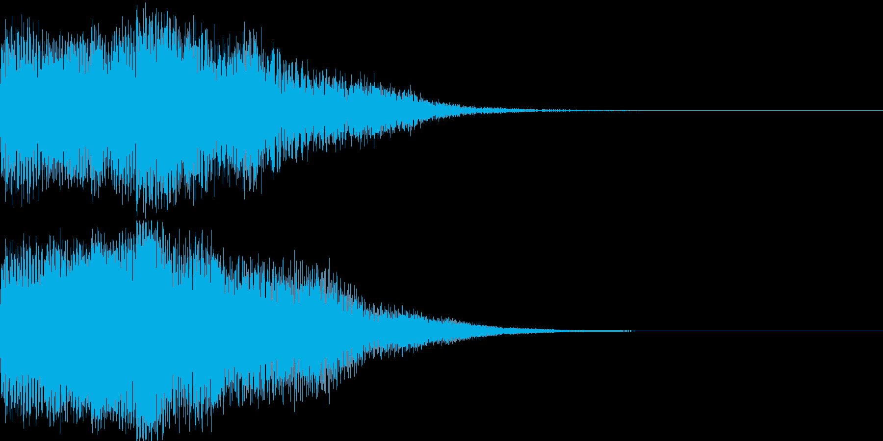 タラララーン(温和な電子効果音)の再生済みの波形