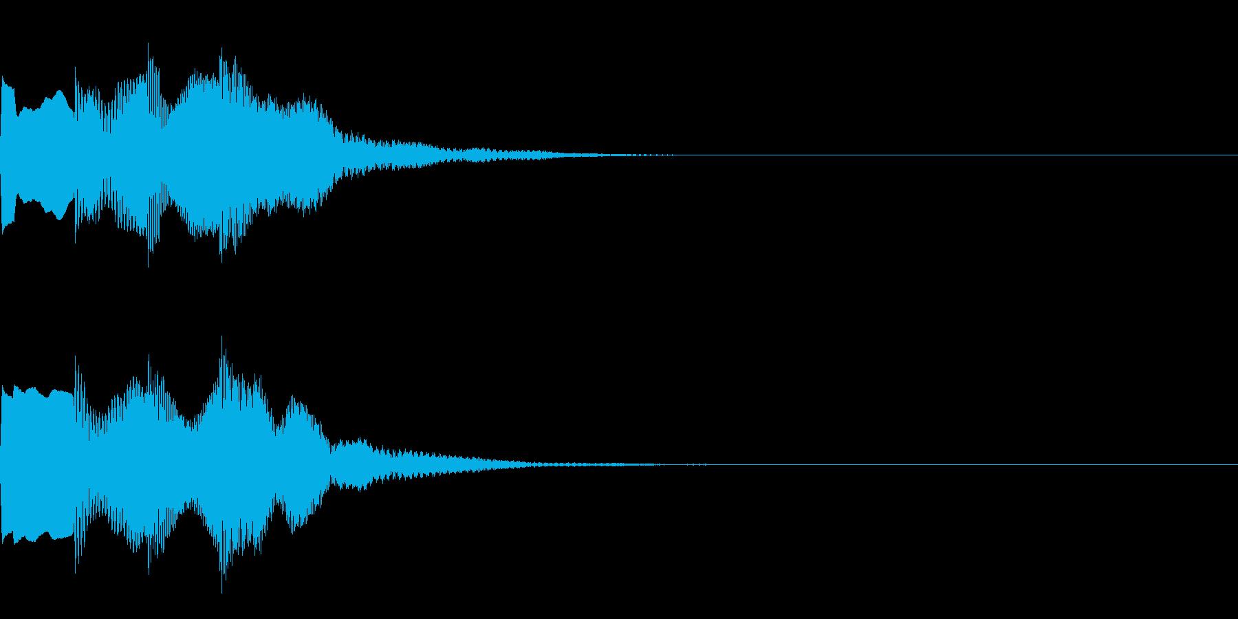 決定音67_シンセAIの再生済みの波形
