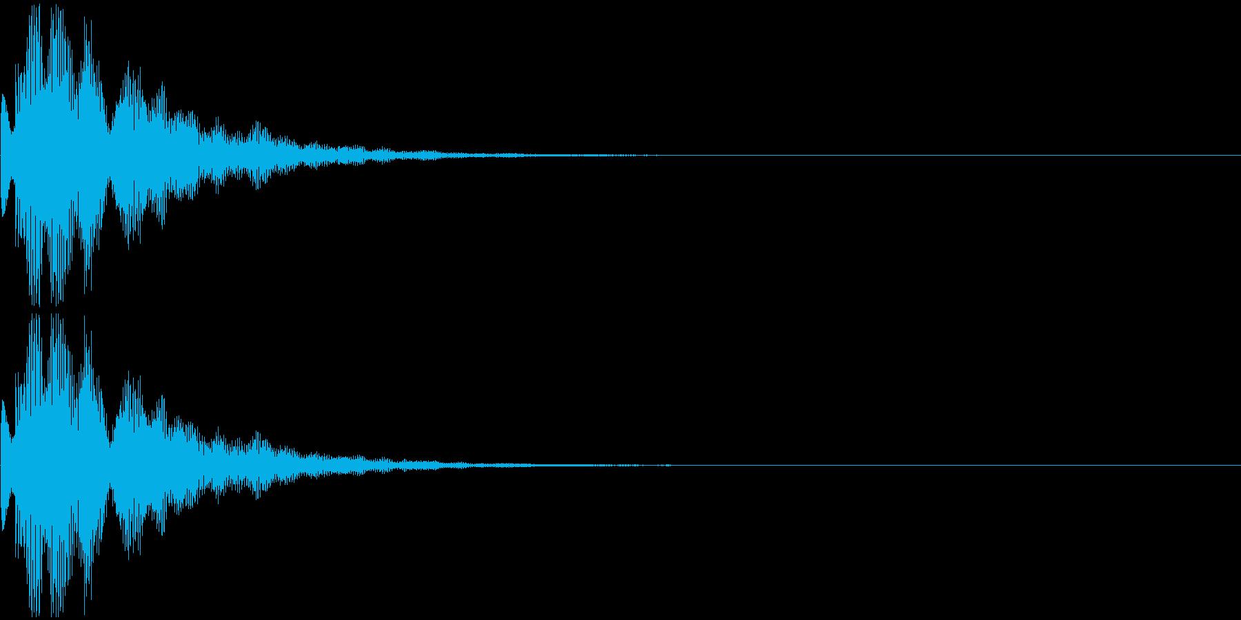 チャラーン・クリック音・アイテム出現の再生済みの波形