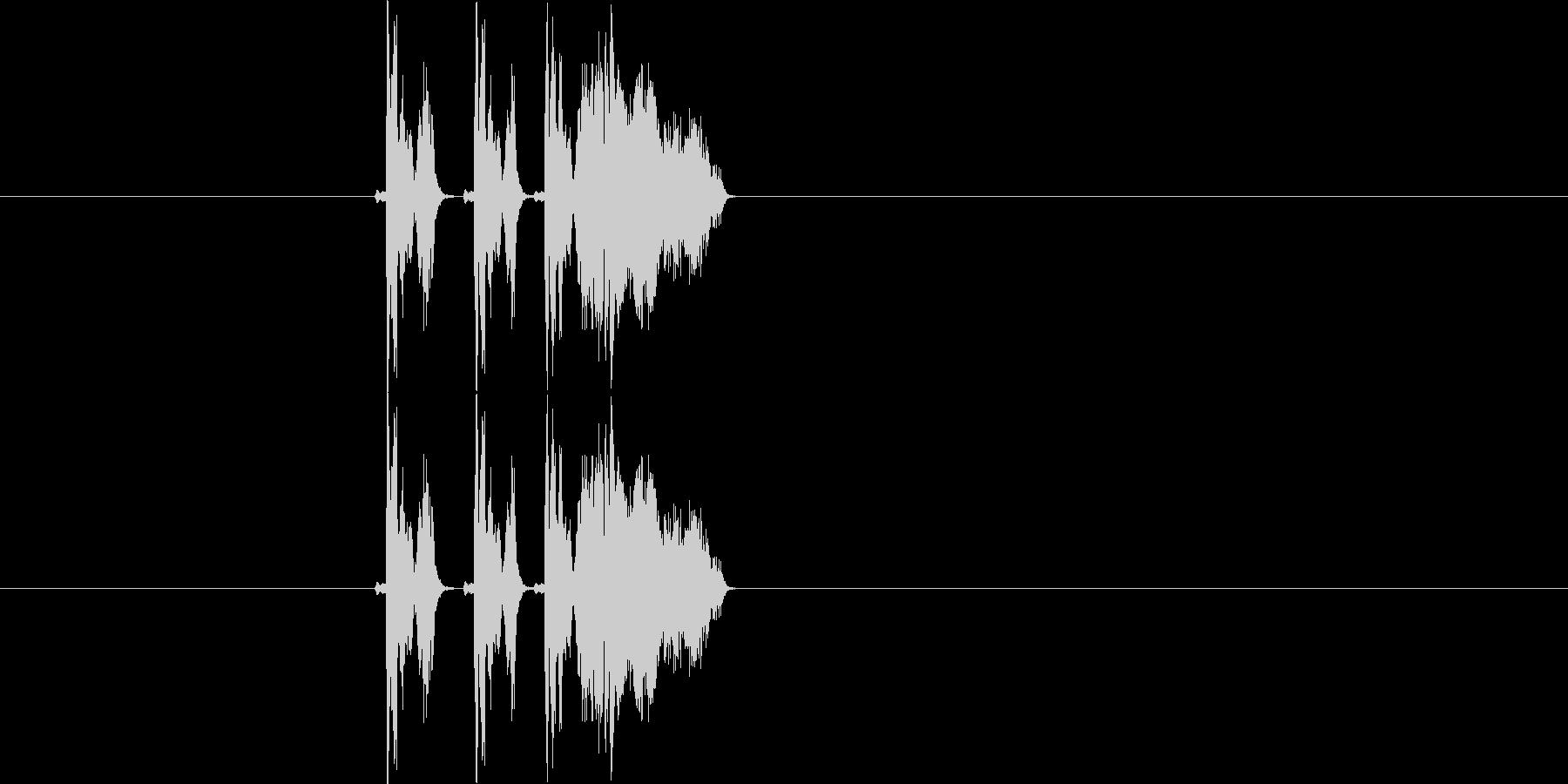 ピピューン(光線が飛んでくる効果音)の未再生の波形