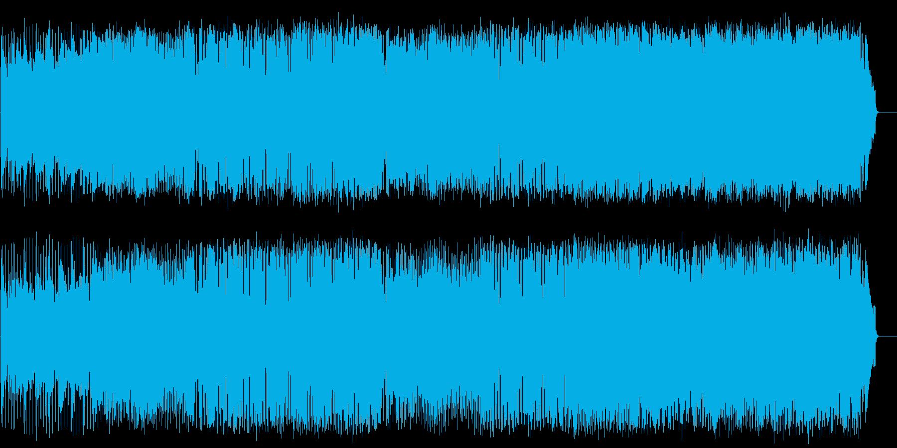 躍動感あふれる元気のいいポップロックの再生済みの波形