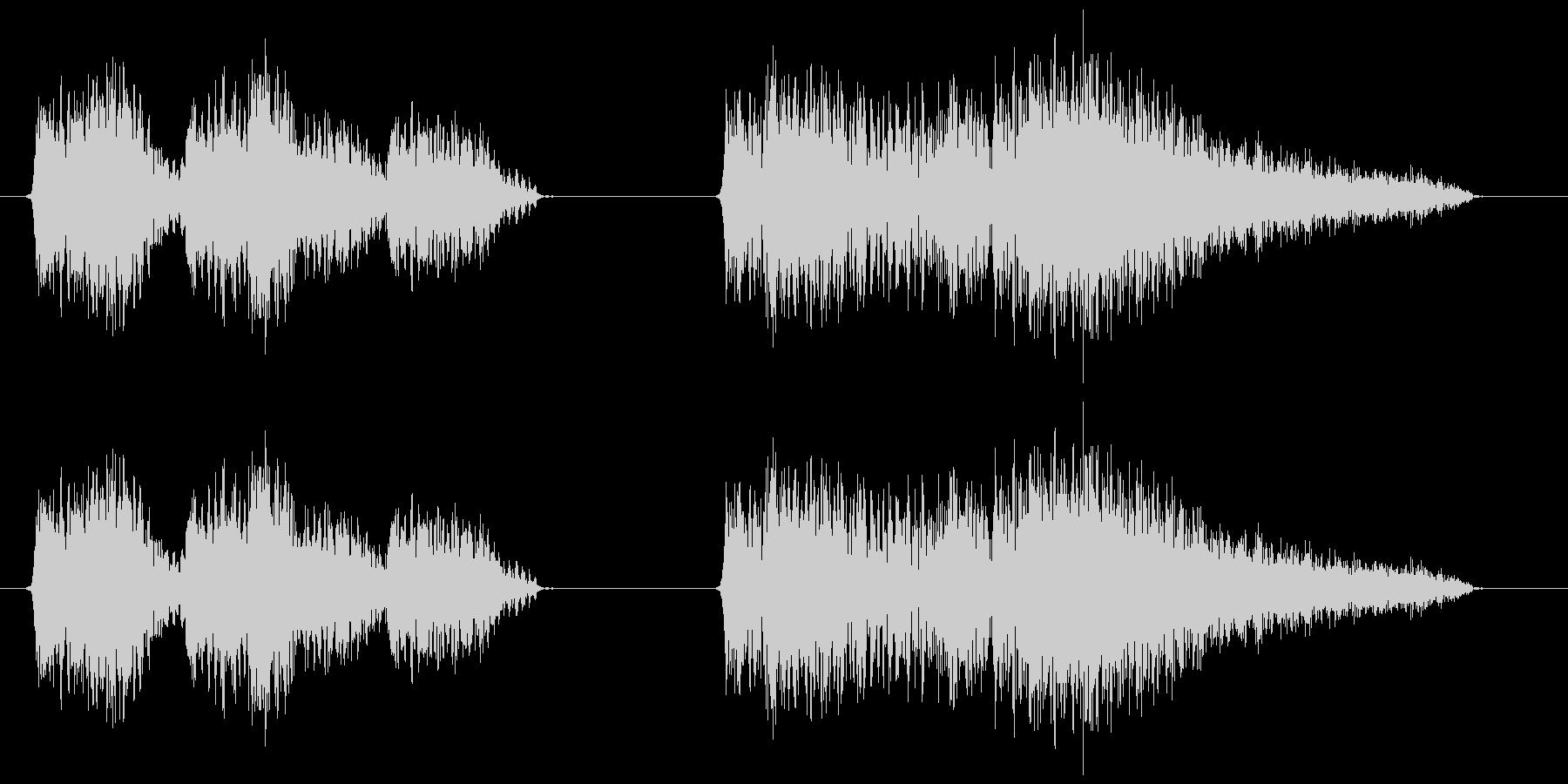 スチームパンク風の機械動作音の未再生の波形