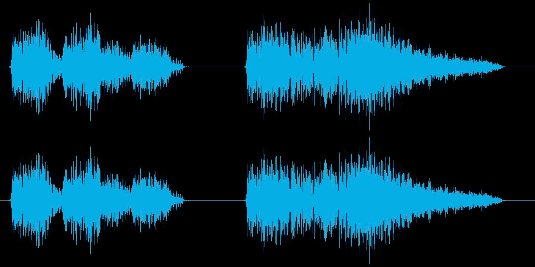 スチームパンク風の機械動作音の再生済みの波形