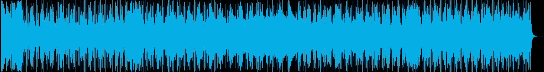 明るく爽やかなシンセサイザーなどの曲の再生済みの波形