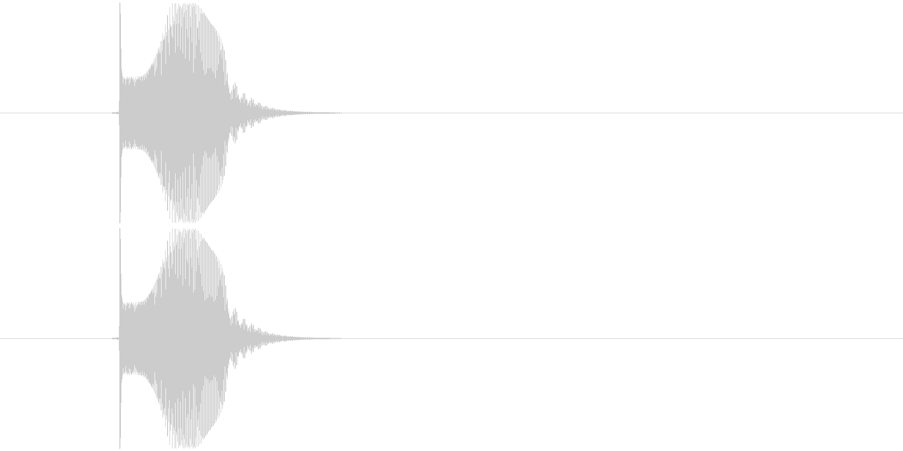 テュンッ  という感じの音。の未再生の波形