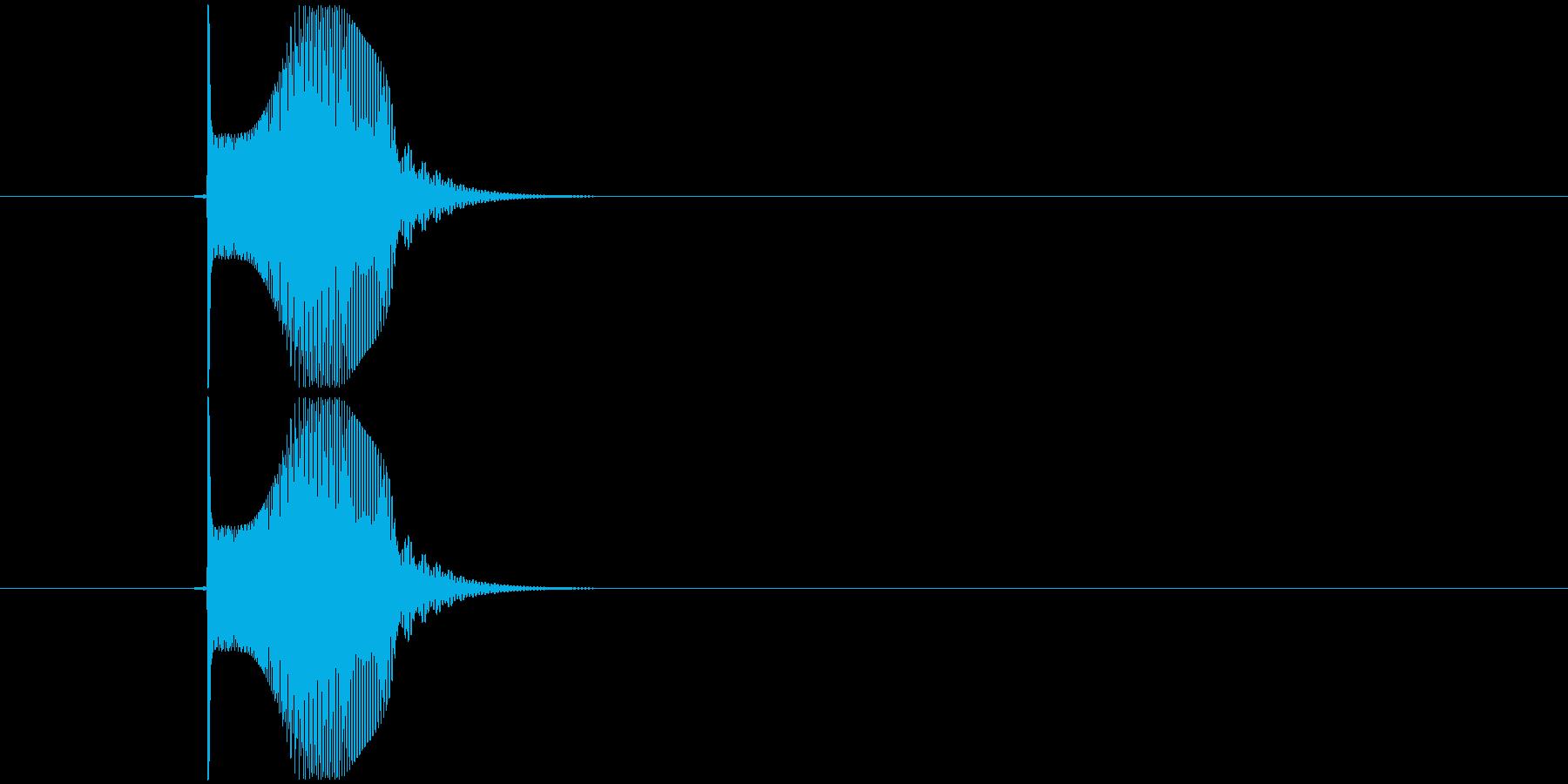 テュンッ  という感じの音。の再生済みの波形