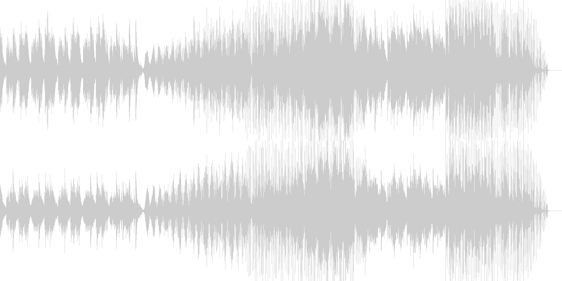 ラウンジ系音楽ー平穏の未再生の波形