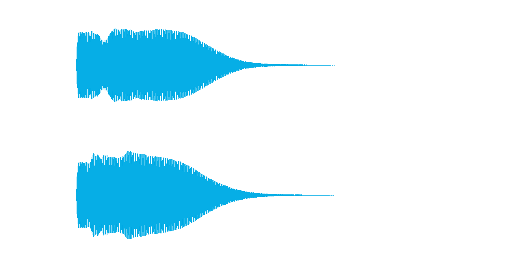 「ポン」というSFチックな決定音の再生済みの波形