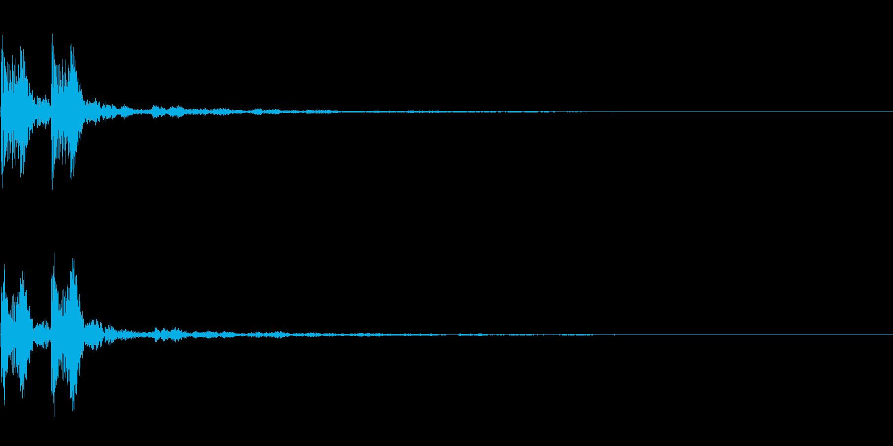 【SE 効果音】エラーの再生済みの波形