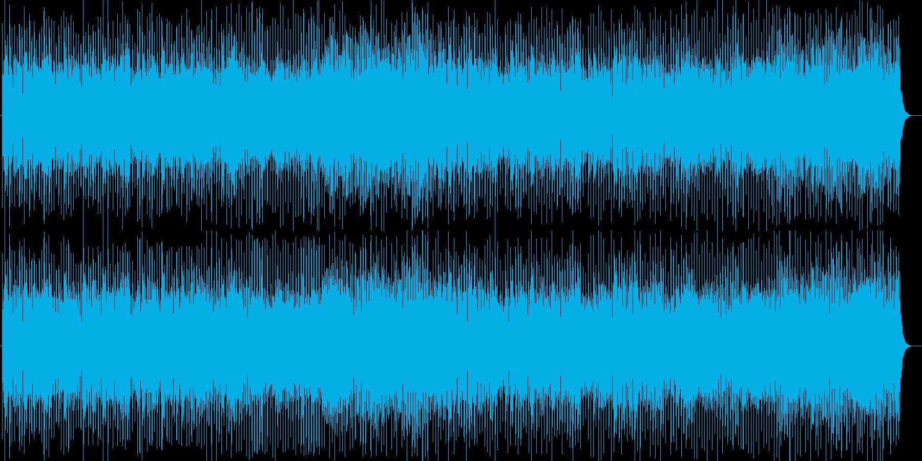 爽快で楽しげなシンセやタンバリンポップスの再生済みの波形