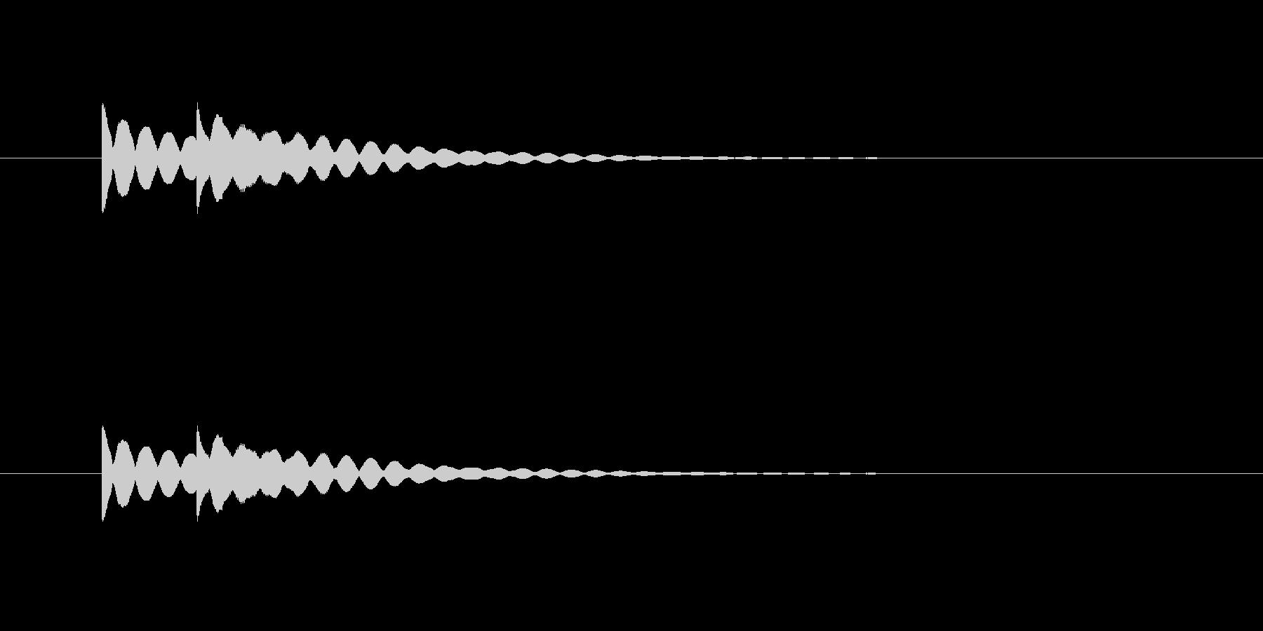 ピンポン(注目、ベル、お知らせ)の未再生の波形