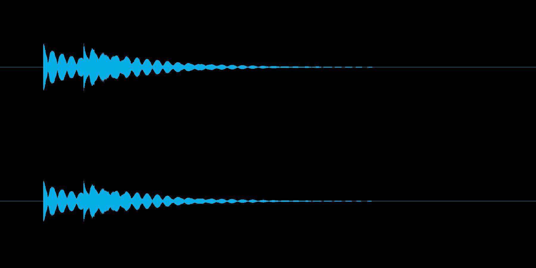 ピンポン(注目、ベル、お知らせ)の再生済みの波形