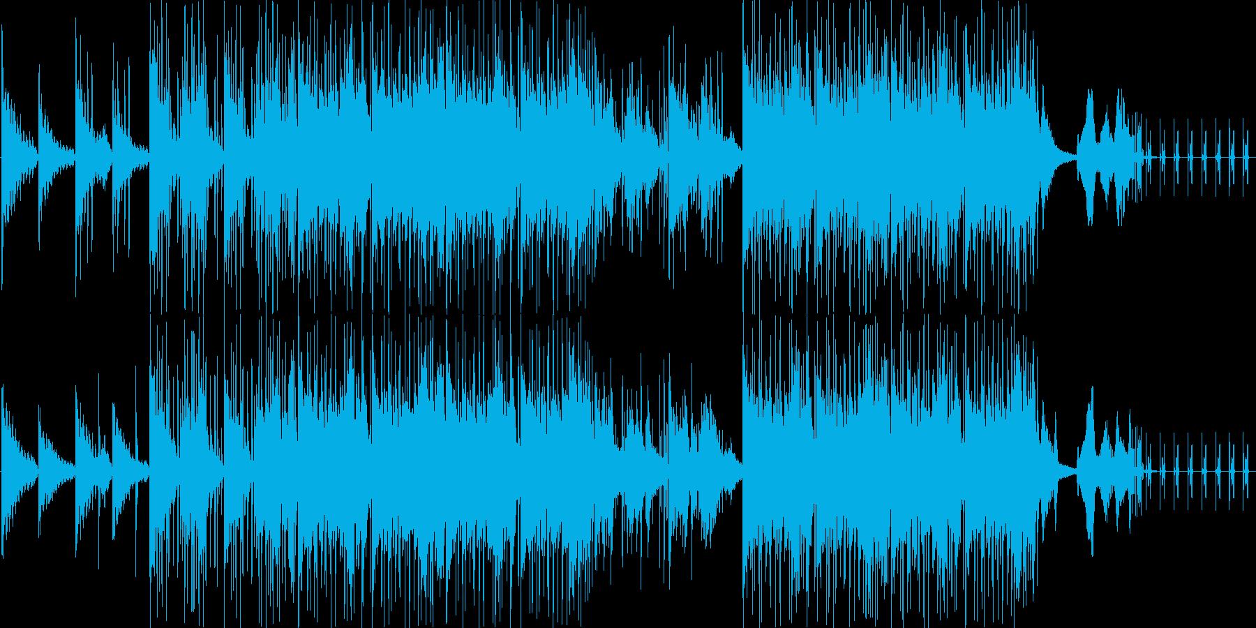 幻想的で怪しいイメージの曲の再生済みの波形