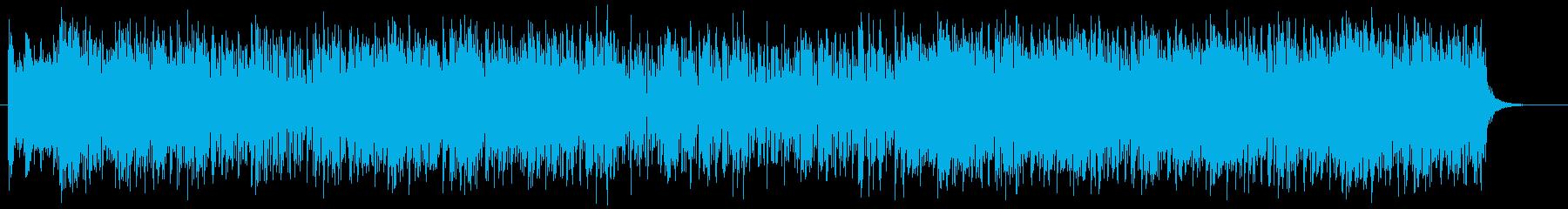エネルギッシュで爽快なリズムのロックの再生済みの波形