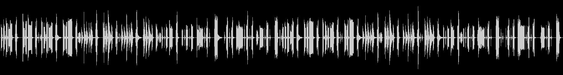 気の抜けた脱力系リコーダーとピアノの未再生の波形