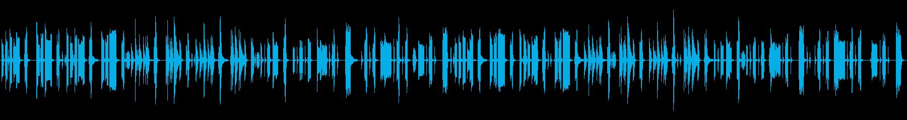 気の抜けた脱力系リコーダーとピアノの再生済みの波形