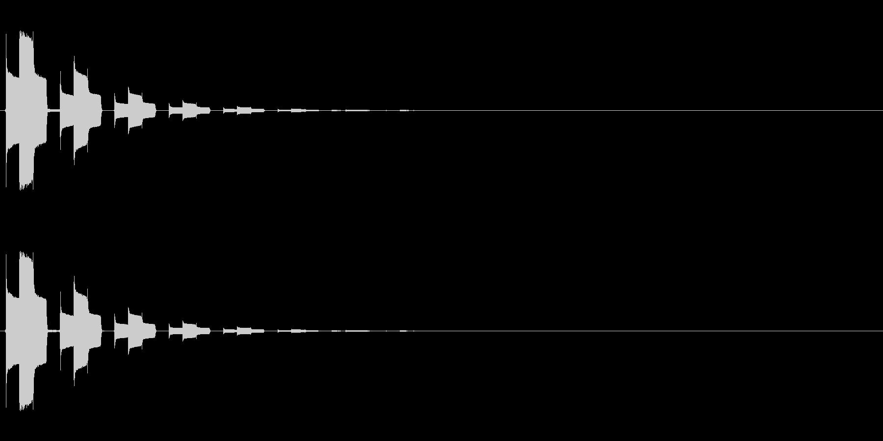 ピロリッ↓(セーブ、回復、決定音)の未再生の波形
