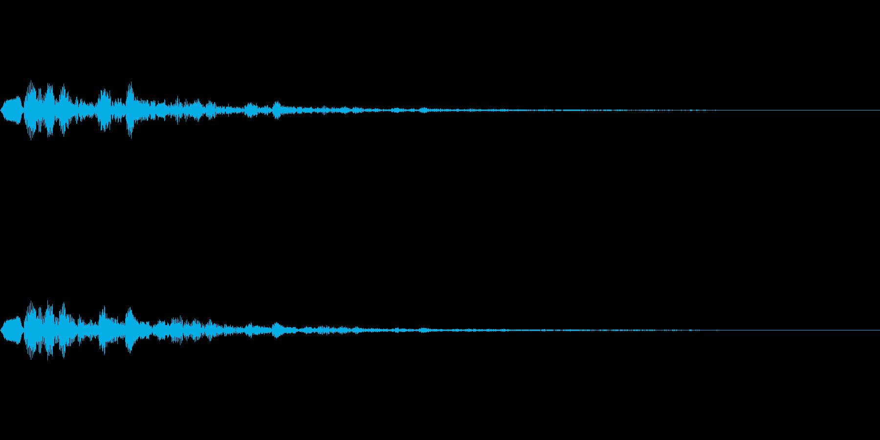 不吉な予兆の再生済みの波形