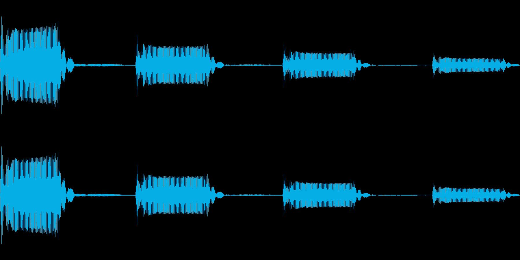 ゲーム用:選択音「ピッ」の再生済みの波形