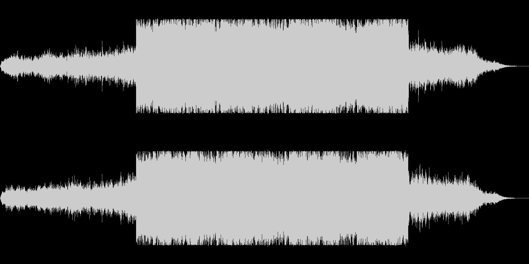 不思議な広がるヒーリングミュージックの未再生の波形
