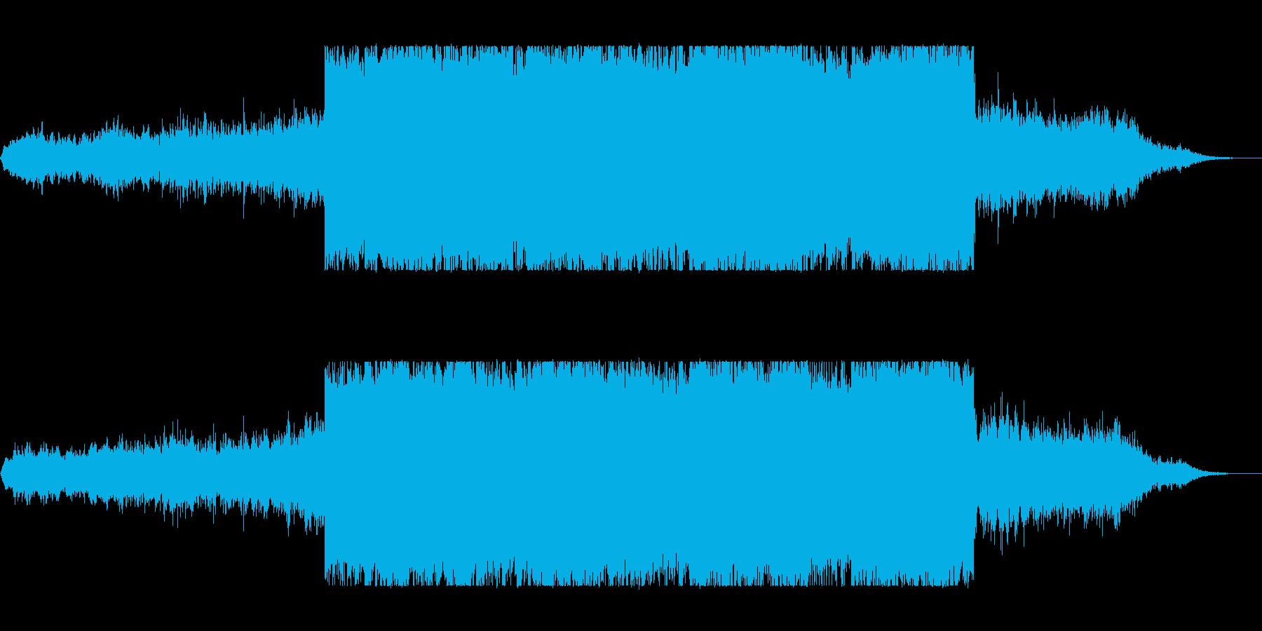 不思議な広がるヒーリングミュージックの再生済みの波形