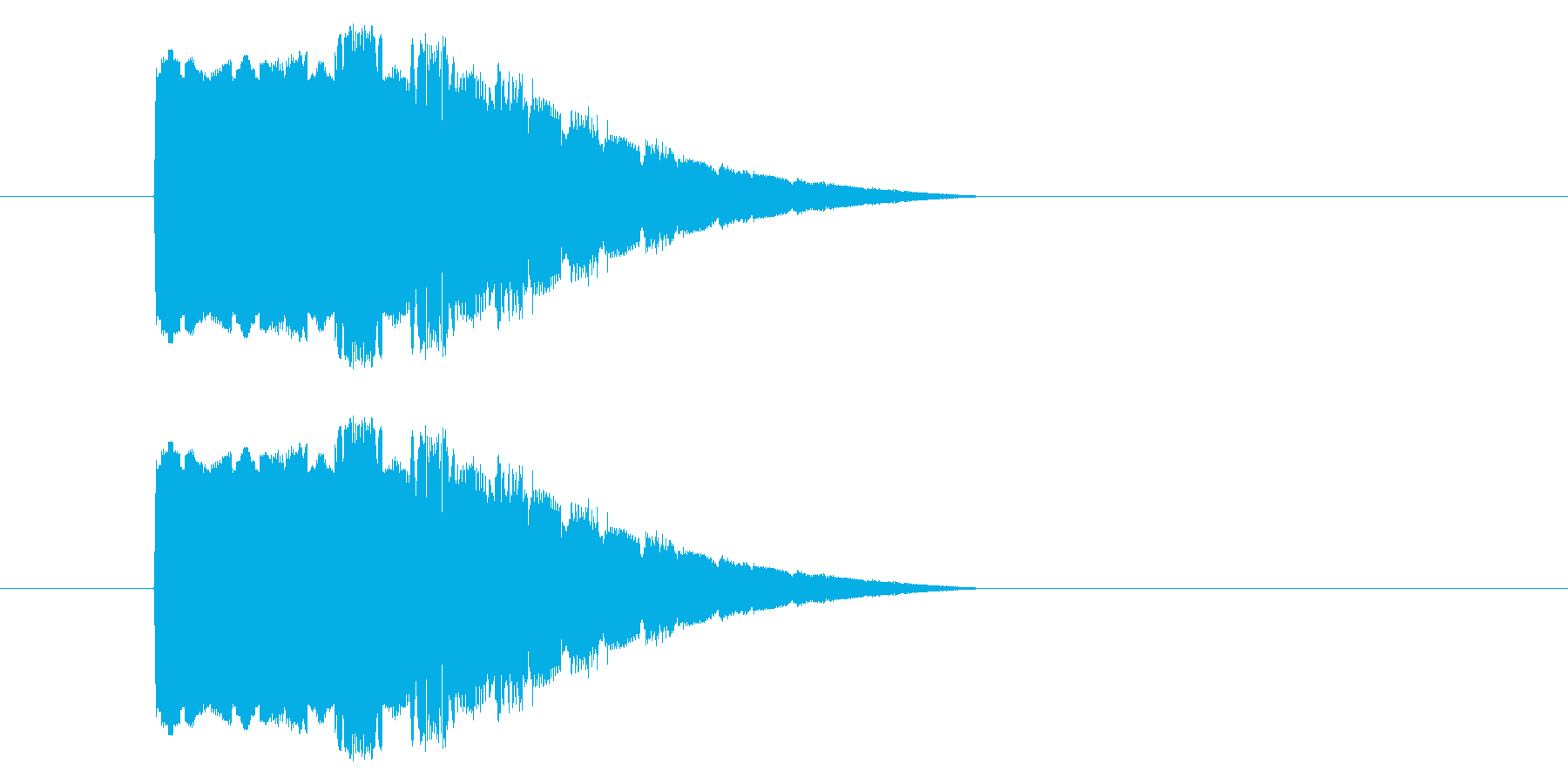 レトロゲーム風 回復魔法音の再生済みの波形