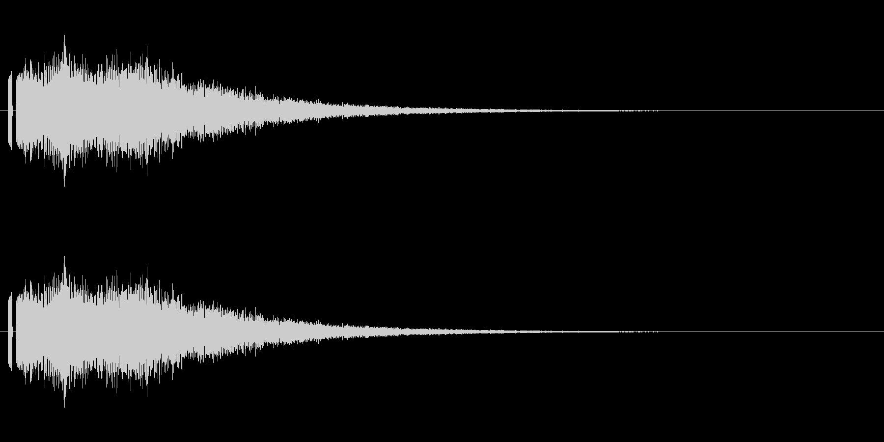 妖精っぽい音。「シャラーン」の未再生の波形