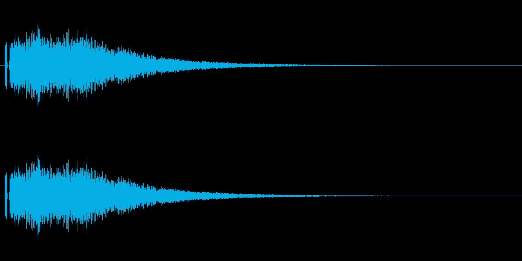 妖精っぽい音。「シャラーン」の再生済みの波形