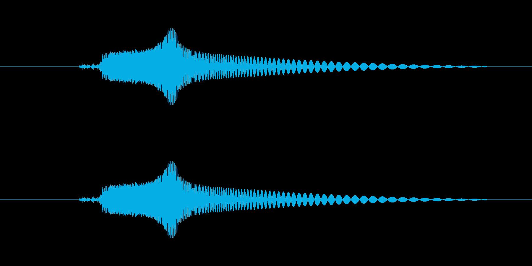 よくあるゲームのタッチ音風の再生済みの波形