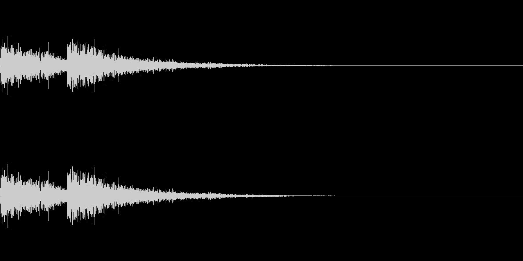 FX・SE/レーザー/2連射/発射/2の未再生の波形