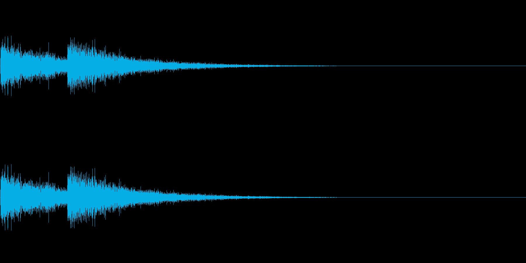 FX・SE/レーザー/2連射/発射/2の再生済みの波形