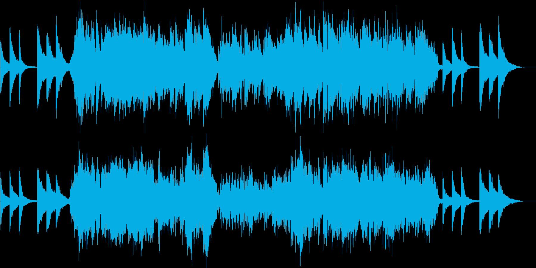 静かで切ないチェロとピアノの二重奏の再生済みの波形
