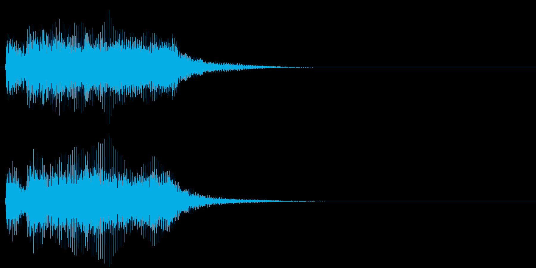 汎用02 ジャジャーンの再生済みの波形