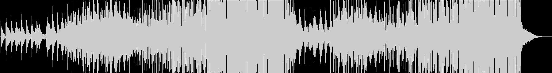 静と動が絡み合った切ないメロディのEDMの未再生の波形