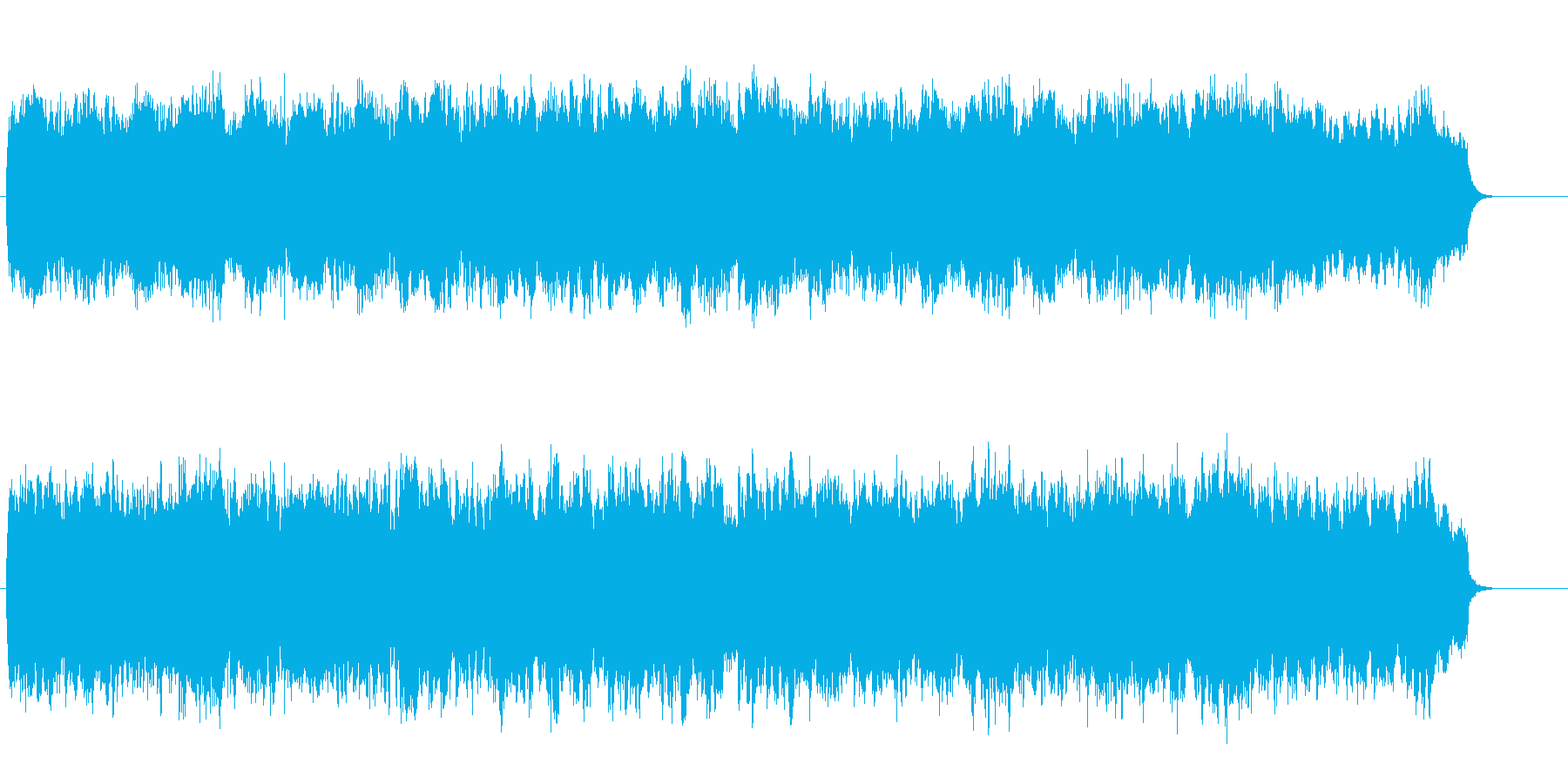 穏やかなオーケストラ風のアンビエントの再生済みの波形