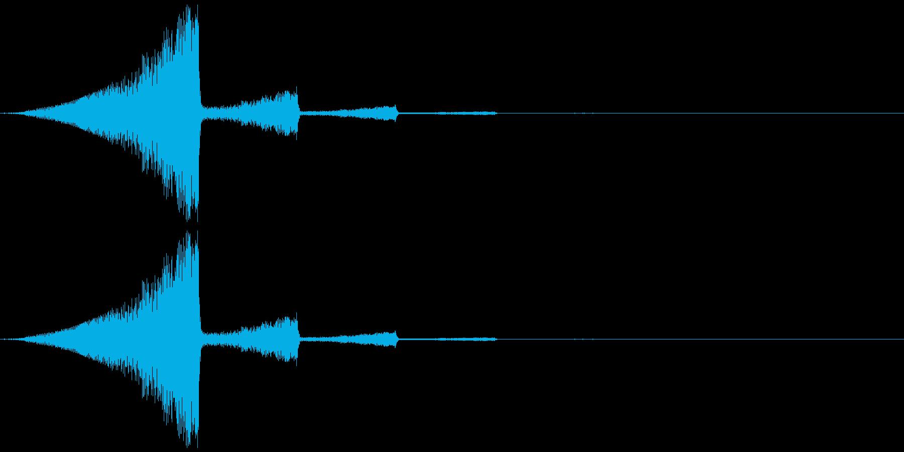 何かが浮かぶような擬音のイメージです。の再生済みの波形