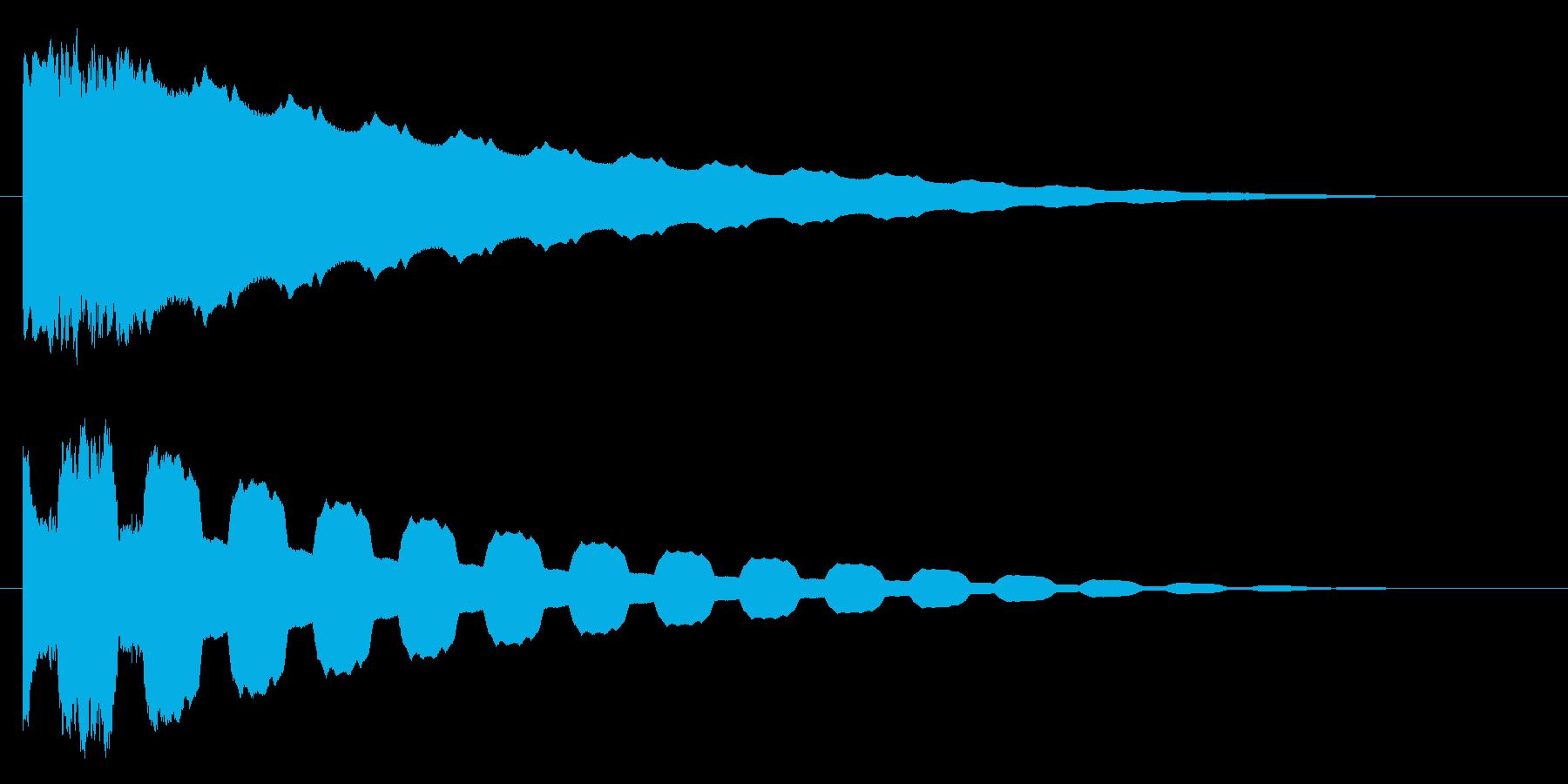 ピュゥイ~~~ンの再生済みの波形