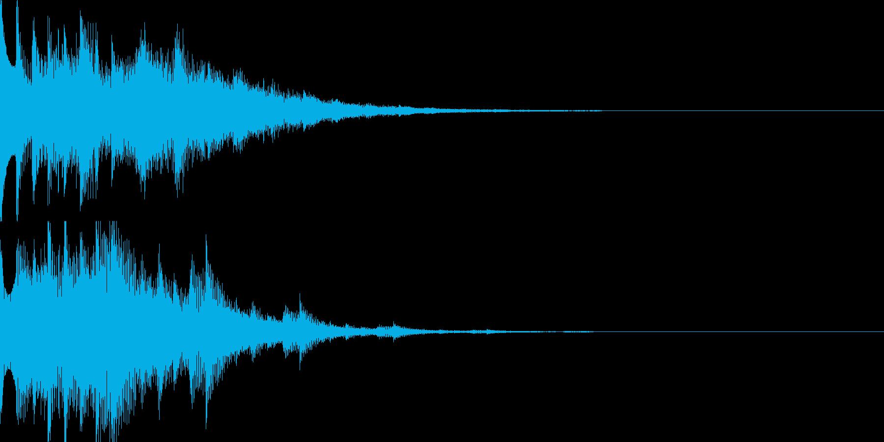 スタート音07の再生済みの波形