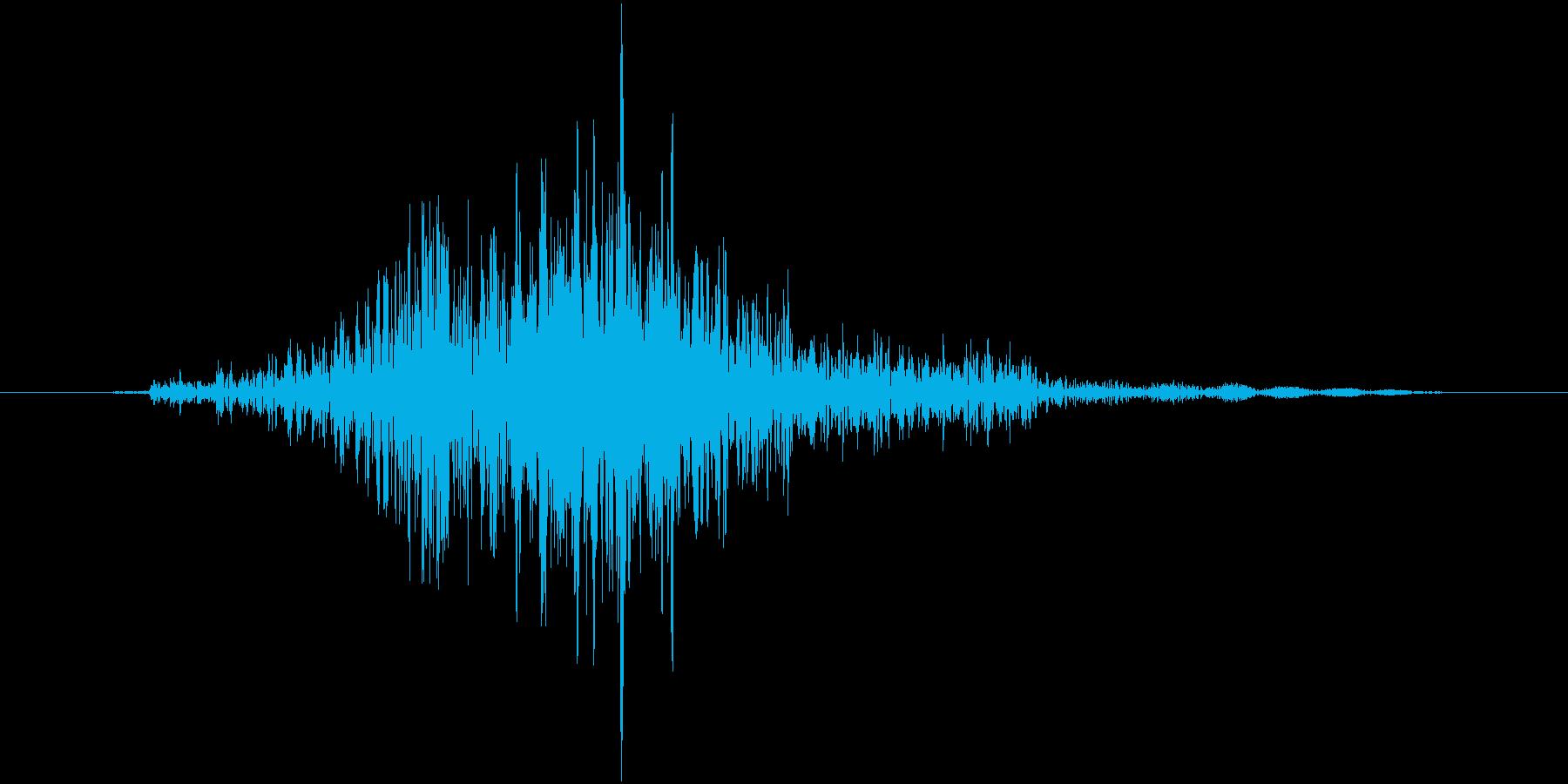 シュッの再生済みの波形