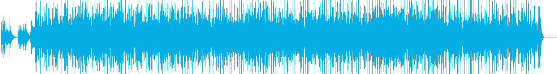 フラメンコ風の情熱的なアコギBGMの再生済みの波形