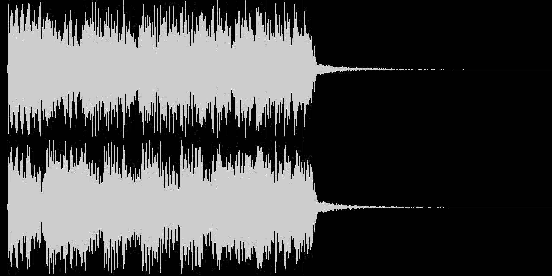 激しいギターバンドジングル短めの未再生の波形