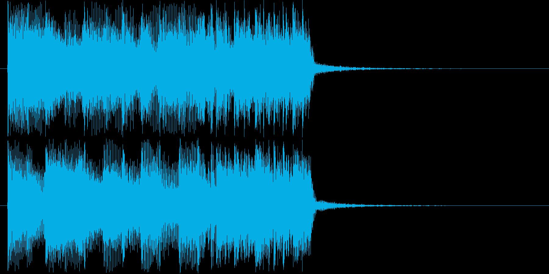 激しいギターバンドジングル短めの再生済みの波形