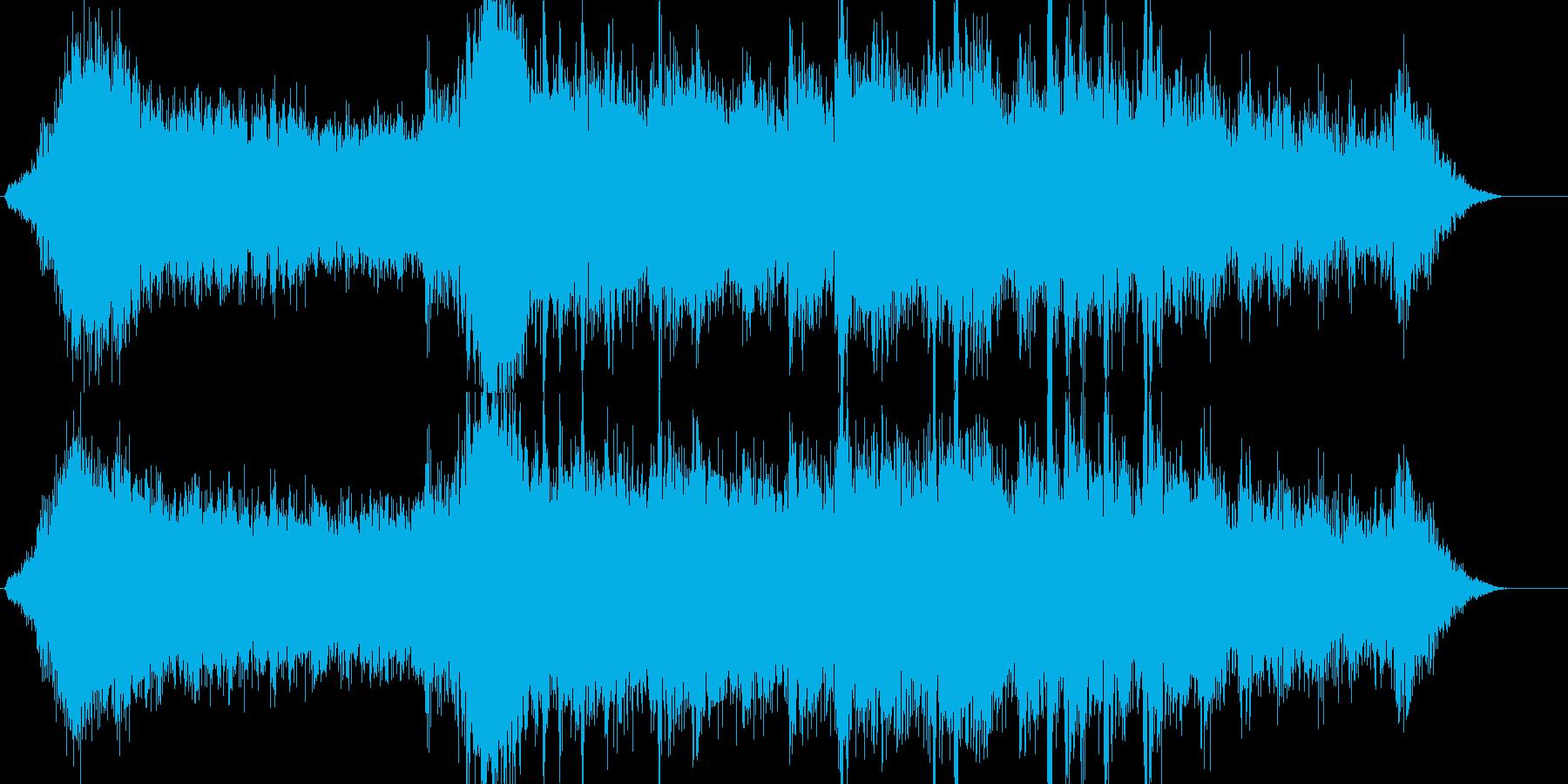 暗い雰囲気の映像向けのアンビエントBG…の再生済みの波形