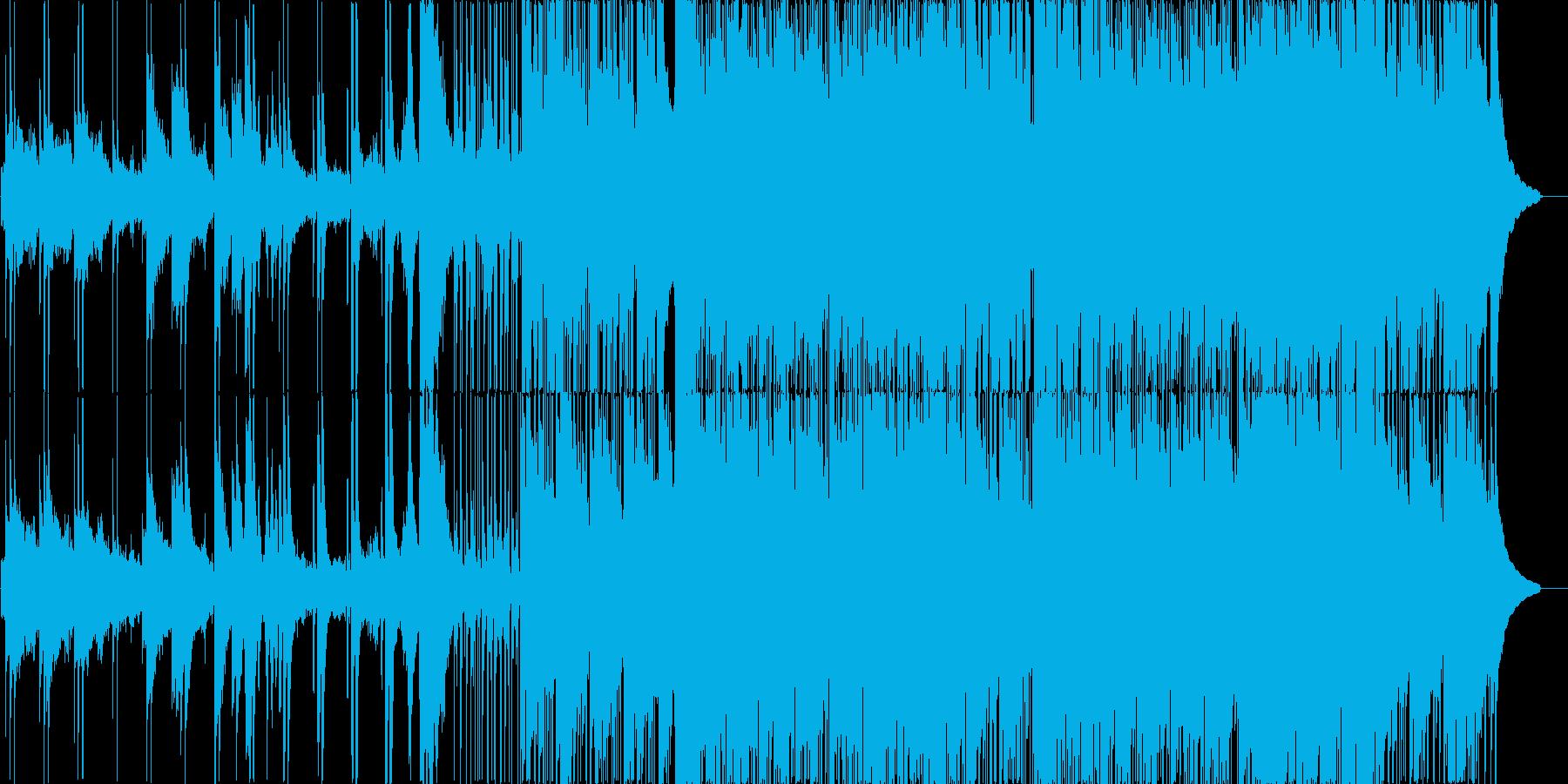 スパイもの用音楽の再生済みの波形