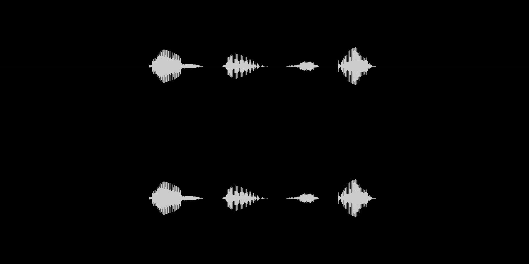 テンポ、100の未再生の波形